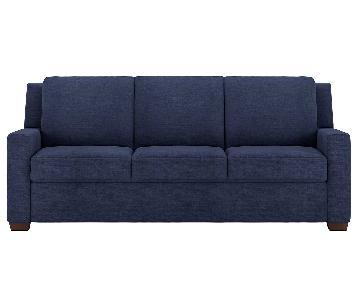 American Leather Comfort Blue Queen Sleeper Sofa