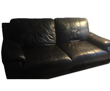 Raymour & Flanigan Leather Reclining Sofa