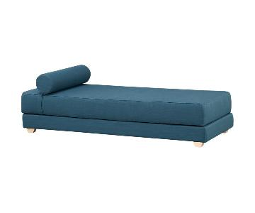 CB2 Lubi Turquoise Sleeper Daybed