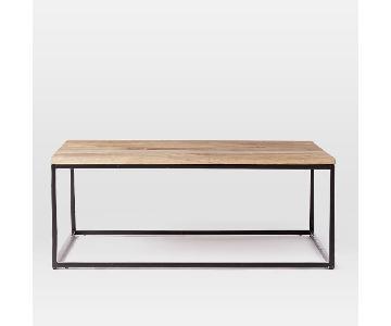 West Elm Box Frame Coffee Table in Raw Mango