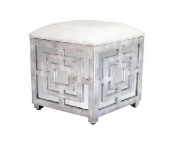 Statements by J Reena Mirrored Cube Ottoman