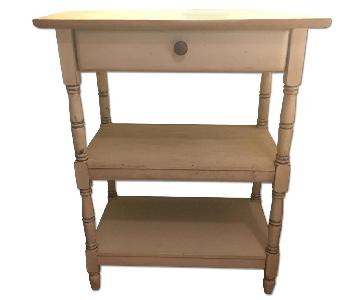 Ballard Designs 1 Drawer 2 Shelf Side Table