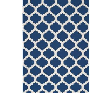 Surya Mediterranean Blue & White Trellis Frontier Rug