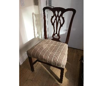 Antique Chippendale Splat Back Mahogany Chair