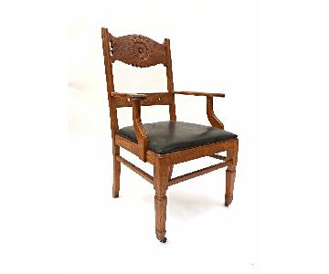 Franco Scerbo Art Deco Oak Dining Chair