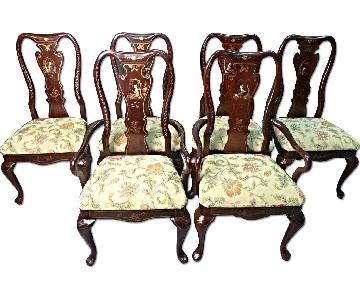 Queen Anne Style Chinoserie Dining Side Chair