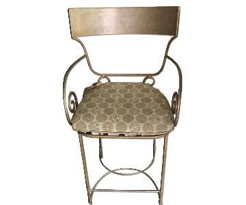 Metal Barstool w/ Cushion