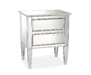 Pottery Barn Park Mirrored 2-Drawer Bedside Table