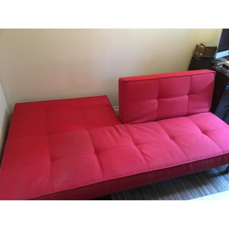 Innovation Split Back Red Sofa Bed AptDeco