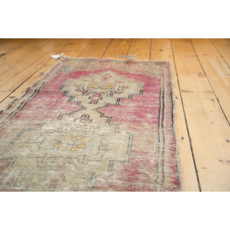 Vintage Distressed Oushak Runner Rug