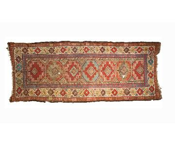 Antique Caucasian Runner Rug