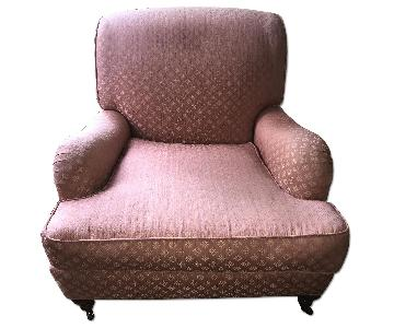 Pink Fabric Armchair