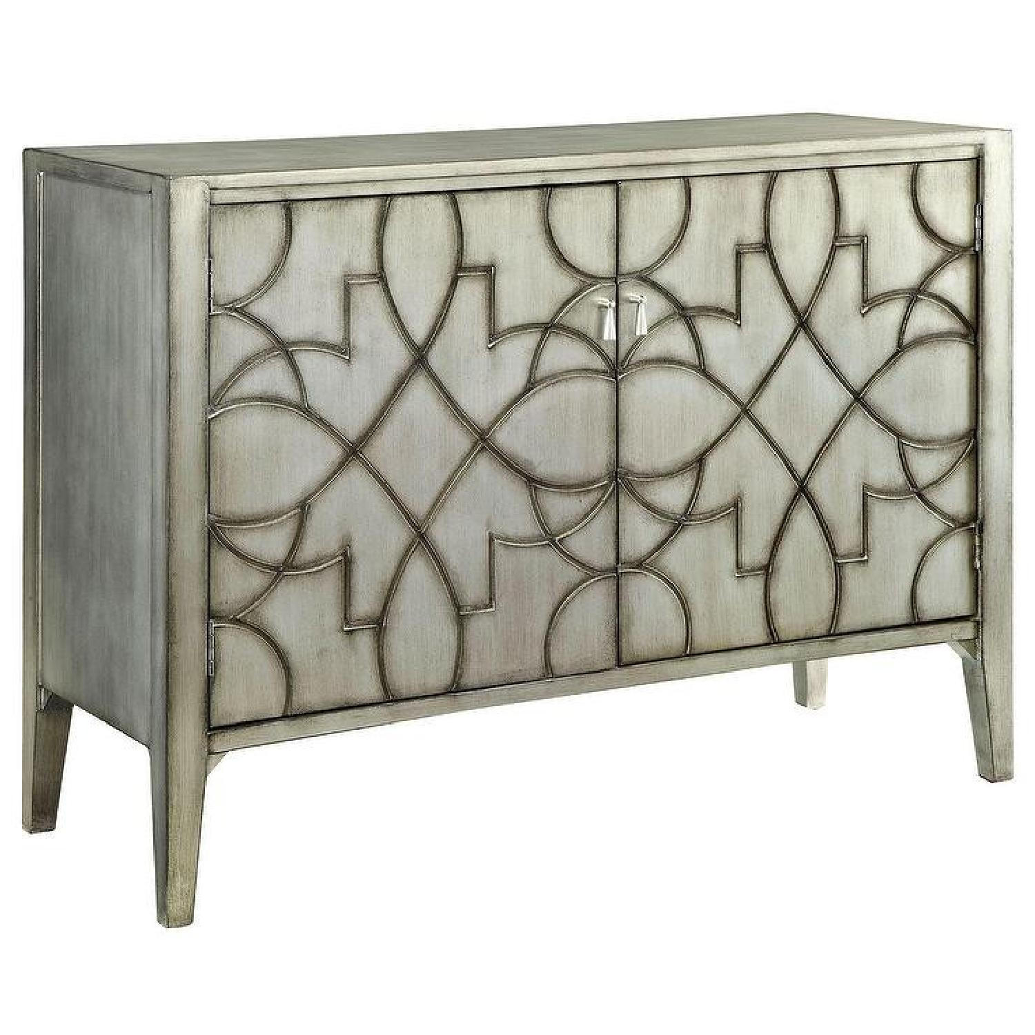 Grey Wood Accent Cabinet