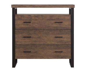 Rustic Amber Accent Cabinet w/ Drawers