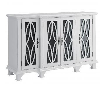 White Classic Accent Cabinet