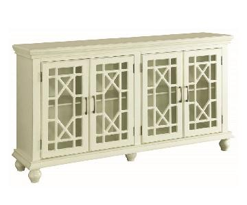 Antique White Accent Cabinet