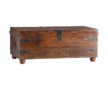 Crate & Barrel Taka Trunk Coffee Table