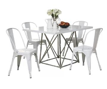 Ivy Bronx Bleecker Modern White Dining Table