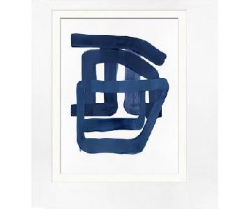 Williams Sonoma Modern Blue Print