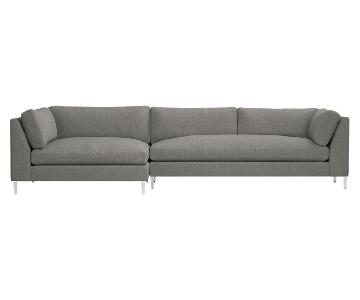 CB2 Decker 2-Piece Sectional Sofa