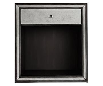 Restoration Hardware Strand Mirrored Open Nightstand