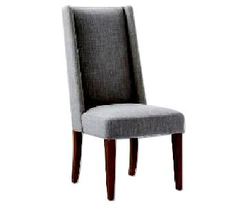 West Elm Willoughby Dining Chair in Salt & Pepper Fabric