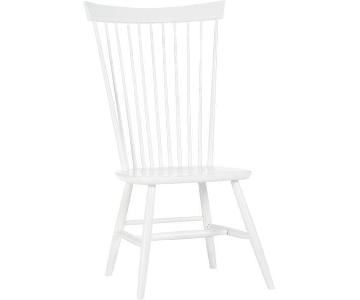 Crate & Barrel Marlow II Dining Chair in White