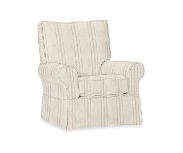 Pottery Barn Kids Comfort Swivel Glider & Ottoman
