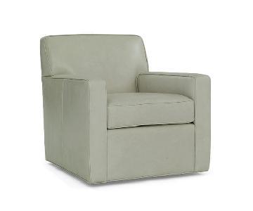 Mitchell Gold + Bob Williams Felix Leather Full Swivel Chair