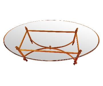 Hollywood Regency La Barge Solid Brass & Glass Coffee Table