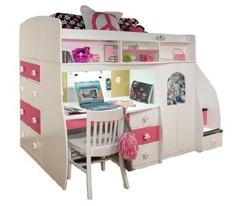 Berg Furniture Twin Study & Play Loft-Bed