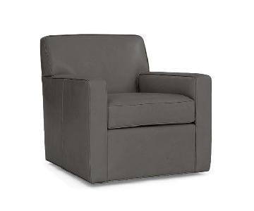 Mitchell Gold + Bob Williams Felix Full Swivel Leather Chair