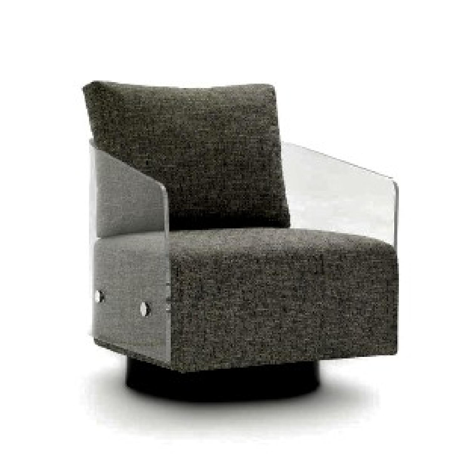 Mitchell Gold + Bob Williams Lucy Full Swivel Chair In Clear ...