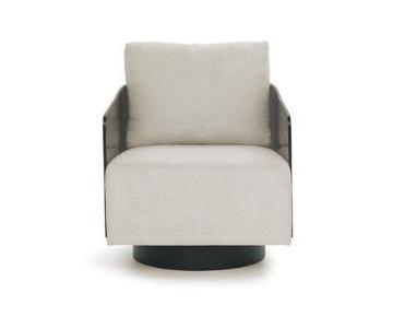 Mitchell Gold + Bob Williams Lucy Full Swivel Chair in Smoke