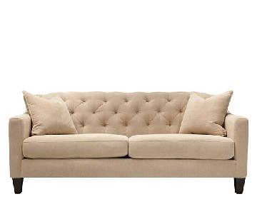 Raymour & Flanigan Grotto Cream Sofa