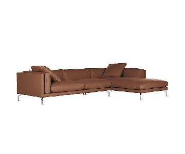 Design Within Reach Como Leather Sectional Sofa