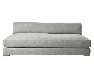CB2 Piazza Steel Grey Sofa