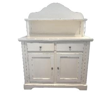Crate & Barrel Limited Edition Weathered White Hutch