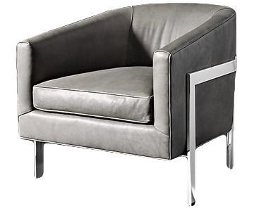 Restoration Hardware Reginald Leather Chair