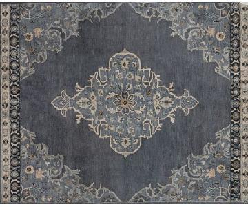 Pottery Barn Classic Bryson Persian-Style Blue & Grey Rug