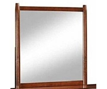 Mirror w/ Mid Century Style Wood Frame in Walnut Finish