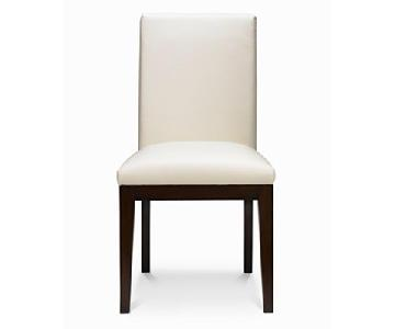 Macys Corso White Leather Dining Chair