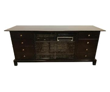 Solid Wood Sideboard/Media Storage in Espresso Finish
