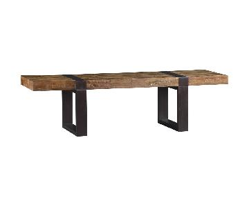 Crate & Barrel Rectangular Reclaimed Wood Coffee Table