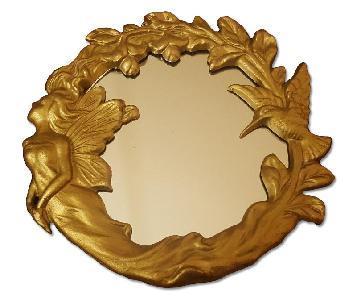 Vintage Wrought Iron Gold Mirror