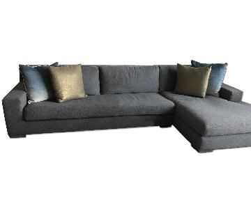 Restoration Hardware Cloud Track Arm Slipcovered Sectional