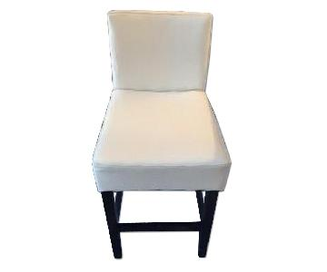 Christopher Knight Ivory Leather Bar/Counter Stool