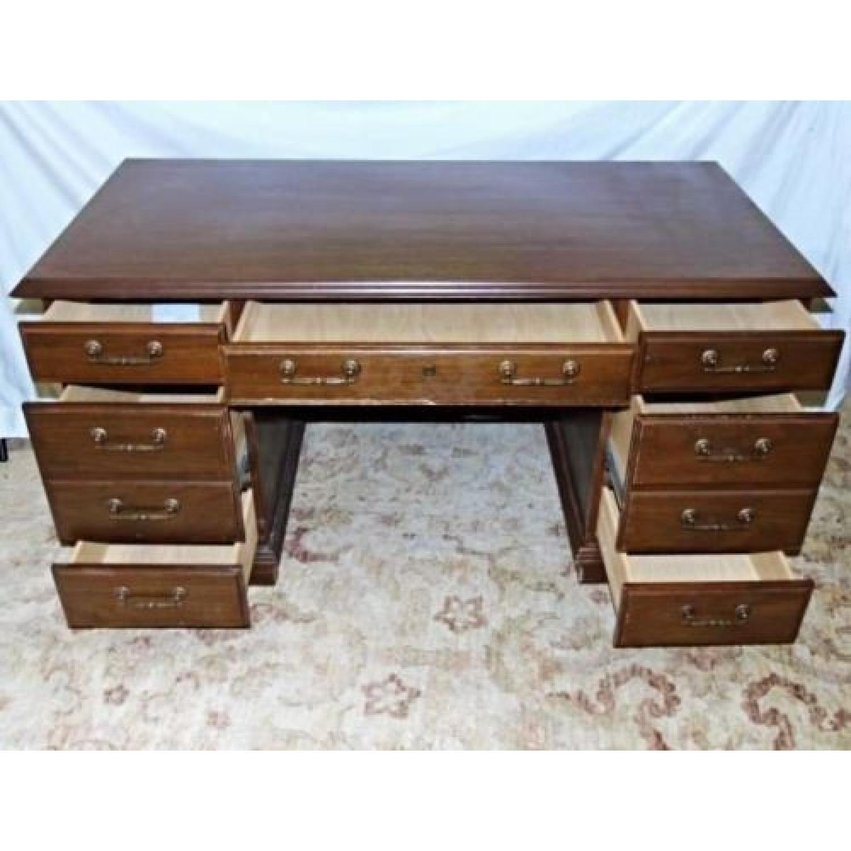 American Mahogany Kneehole Desk/Secretary