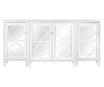 Home Decorators Collection Reflections White Storage Cabinet