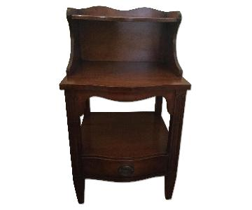 Drexel Mid-Century Traditional Mahogany Nightstand/End Table